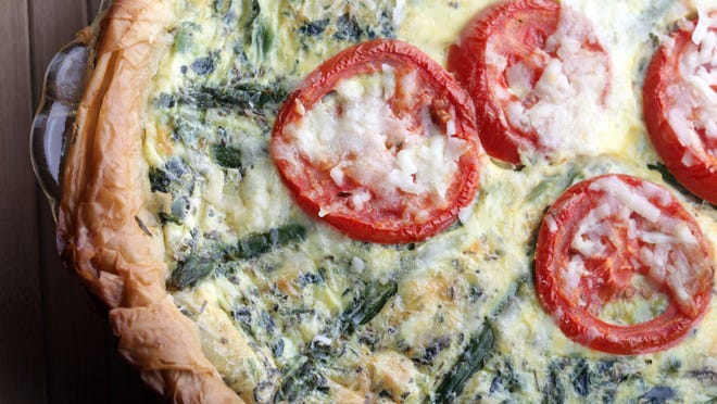 Asparagus Quiche with Phyllo Crust.