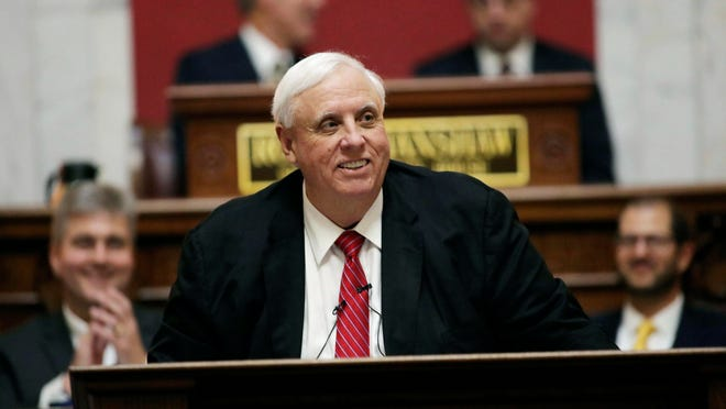 West Virginia Gov. Jim Justice delivers his annual State of the State address in the House Chambers at the state Capitol in Charleston, W.Va., on Jan. 8.