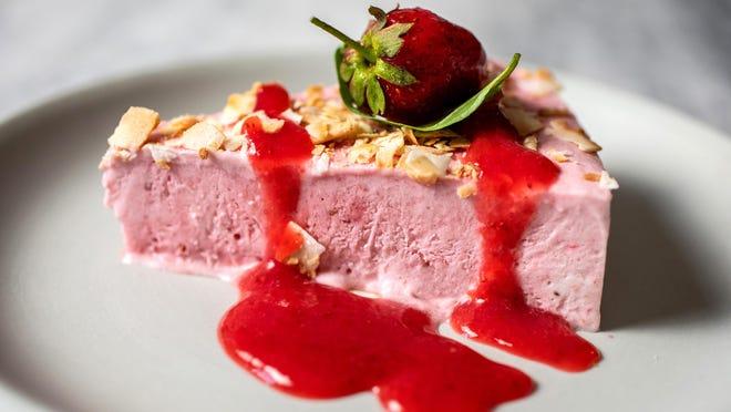 Strawberry-coconut ice-cream