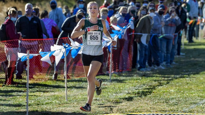 Chapman's Taylor Briggs joined elite company on Saturday at the Class 4A state cross country championships at Wamego Country Club, becoming the sixth girl in state history to win four state cross country championships.
