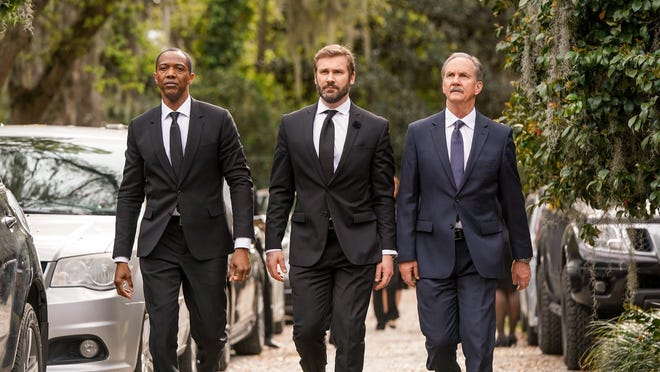 """""""Council of Dads"""" """"Pilot"""" episode: From left, J. August Richards as Dr. Oliver Post, Clive Standen as Anthony Lavelle, Michael O'Neill as Larry Malvern."""