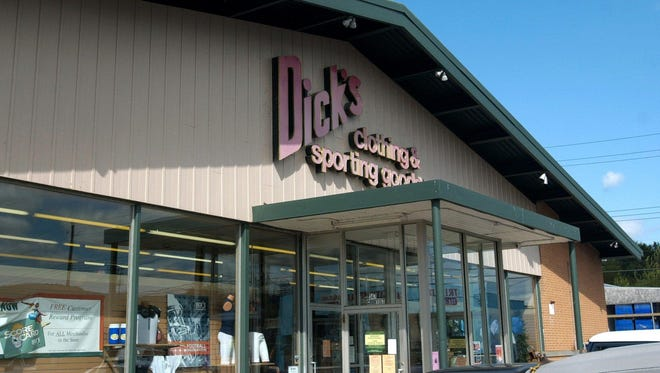 The Dick's Sporting Goods on Court Street in Binghamton, adjacent to where the business began in 1948. The company now operates more than 675 stores across the nation.