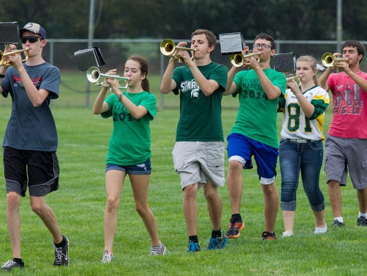 Pennfield HS marching band practice_02.jpg