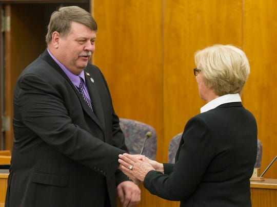 Commissioner Mike Bearman congratulated last night at the Calhoun County Board of Commissioners meeting.