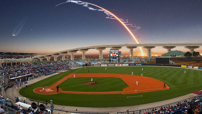 Commissioner Robin Fisher has worked with a pro-baseball baseball organization on plans for a stadium and event center at Sand Point Park in Titusville.