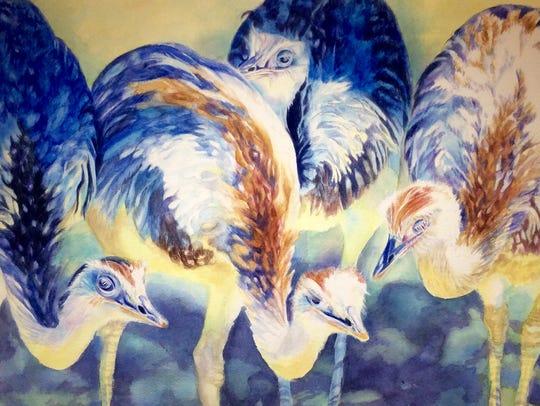 "Sherry Allen's ""Birds Eye View"" watercolor."