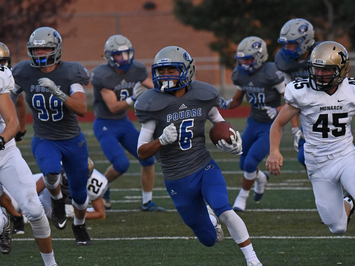 Poudre's Zach Leal is one of the area leaders in receiving yards.