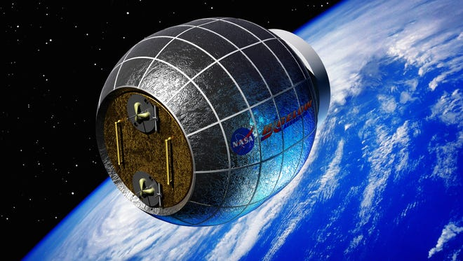 Illustration of Bigelow Aerospace inflatable space station.