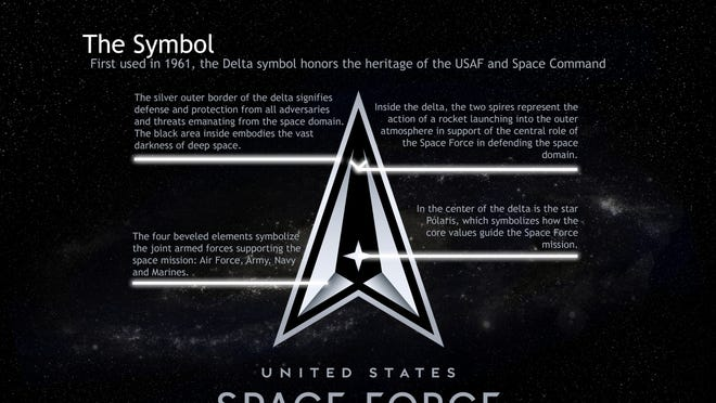 U.S. Space Force logo and motto.