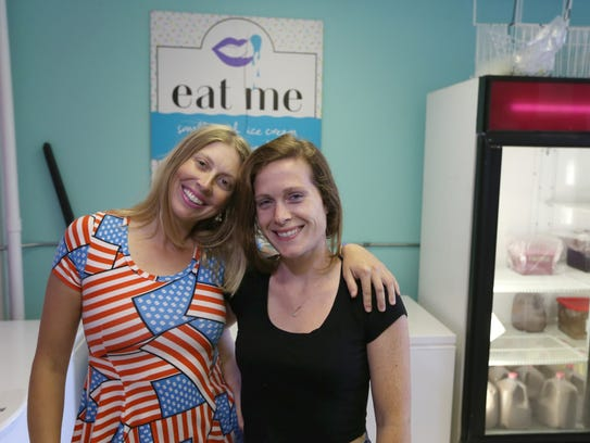The women behind Eat Me Ice Cream, co-owners Catelyn