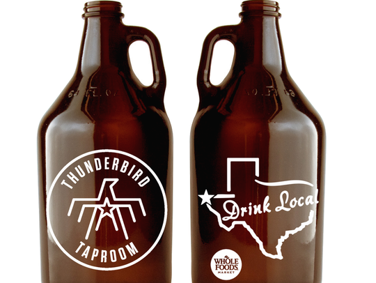 Beer growlers that will be used in the El Paso Whole