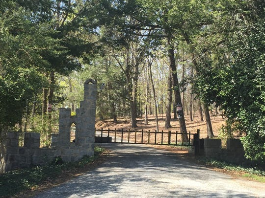 Gated entrance to Stephenson property on Altamont Road.