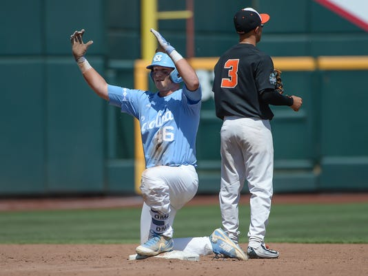 NCAA Baseball: College World Series-North Carolina vs Oregon State