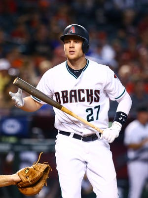 May 31, 2016: Arizona Diamondbacks third baseman Brandon Drury against the Houston Astros at Chase Field.