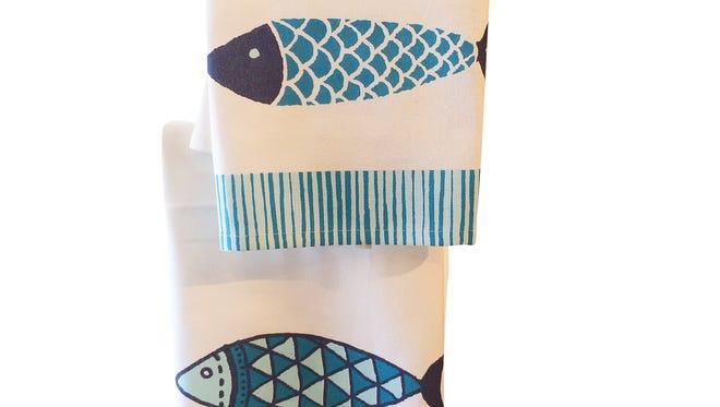 Fish tea towel, $12.50, Pizzaz.