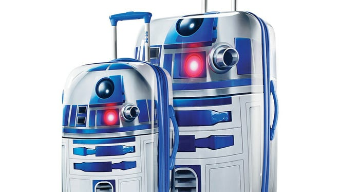 Star Wars spinner luggage by American Tourister.