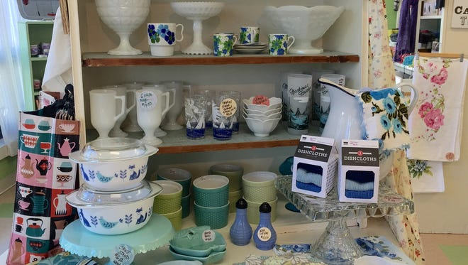 Green daffodil, Ferndale, features a mix of vintage and new home items -- in addition to handmade candles and soaps, plus jewelry, bags and other items from local and independent makers.