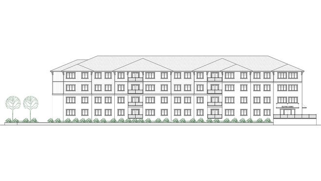 A rendering of the Delphin Downs project that will be built as affordable housing at 1717 W. Cervantes St.