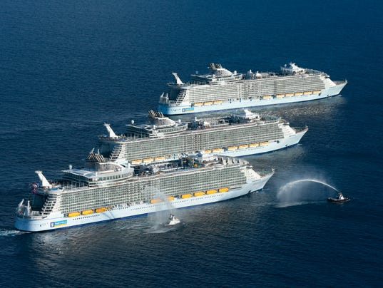 Worlds Largest Cruise Ships Meet In Historic Gathering - Biggest cruise ships list