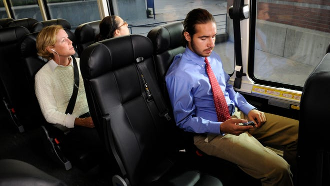 Modern Greyhound buses  offer free WiFi, a feature the company hopes will attract younger travelers.