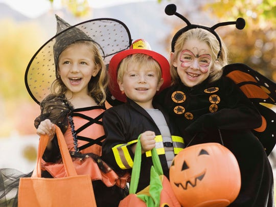 Children dress up on Halloween for a night of trick-or-treating