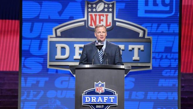 Roger Goodell at the 2017 NFL Draft.