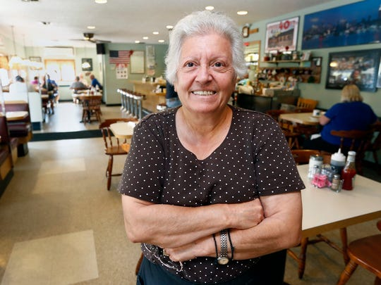 Jeanine Nicolakis, owner of Sparky's Diner in Garnerville.  Thursday, July 13, 2017.