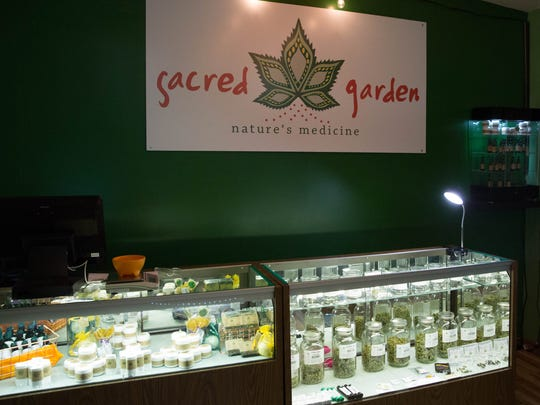 Sacred Garden became Las Cruces' fourth medical marijuana dispensary, this month and celebrated its grand opening Friday January 26, 2018.