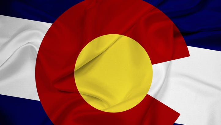 Waving Colorado Flag