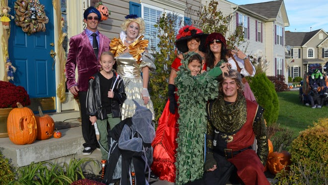 The Ferguson family hosted a Halloween party after trick-or-treating. Pictured, from left, in the back row are Kevin and Jenny Ferguson, Sandra Jakubek, Michelle Kline, and in front, from left, are Karley Ferguson, 9, Mason Kurelko, 7, Ethan Kurelko, 9, and Nelson Lagares, all of Vineland.
