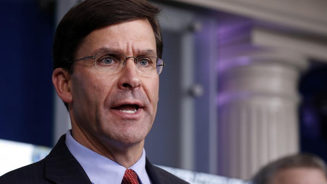 "Defense Secretary Mark Esper said Wednesday that the use of active military troops in containing protests should be reserved for ""the most urgent and dire of situations. We are not in one of those situations now."""