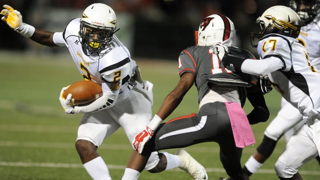 Oak Grove wide receiver Jordan Duncan (2) has signed a financial aid agreement with Cal.