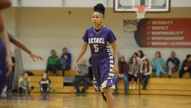 Bethel junior Martessia Williams received NAIA All-America honorable mention.