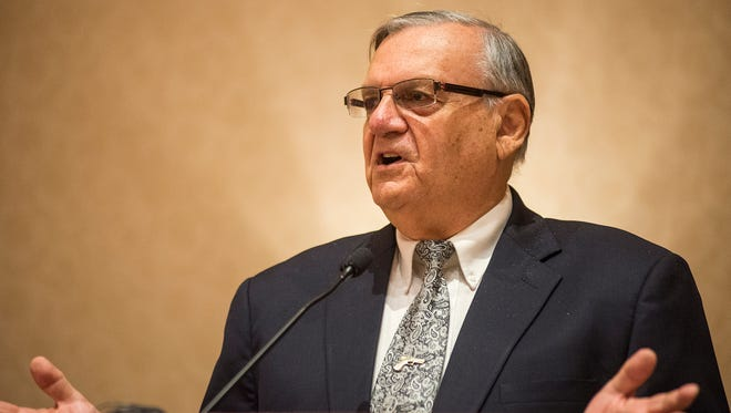 Sheriff Joe Arpaio during one of his many, many speaking engagements.