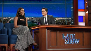 The former first lady will be joined by comedian Stephen Colbert, who will serve as moderator during her appearance at the Ryman on May 12.