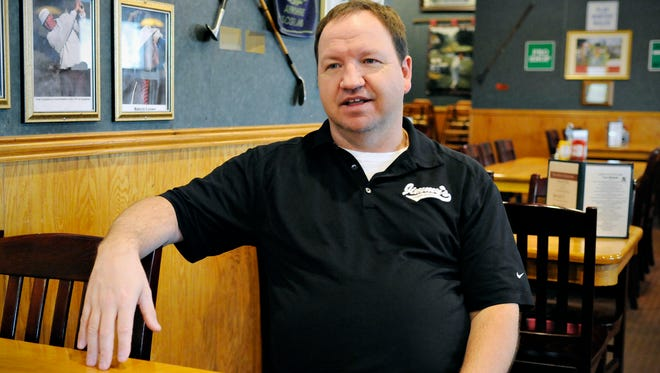 Dan Lynch, manager of Jimmy's Pourhouse in Sauk Rapids, talks March 3 about the history of the bar and restaurant.