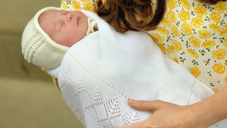 The new Princess of Cambridge met the world Saturday