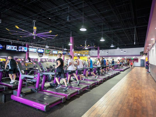 Interior of a typical Planet Fitness gym.