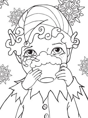Coloring Page. Either download this or tear it out of the Times Herald, color it and return it to Nicole Hayden for a coloring contest.