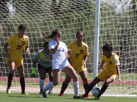 Paradise Valley Community College forward Megan Schulze is tied for second in the nation with 15 goals scored.