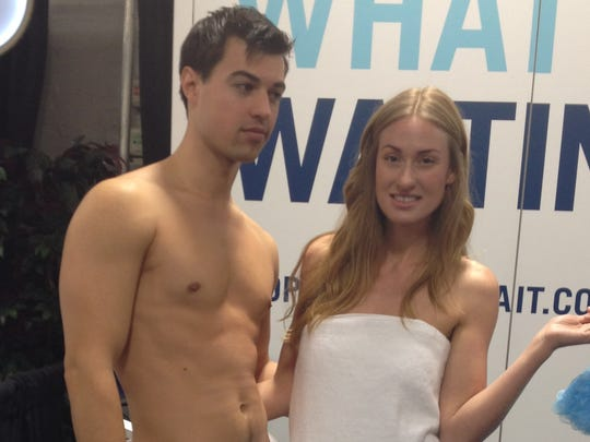 Models promote a hot water system.