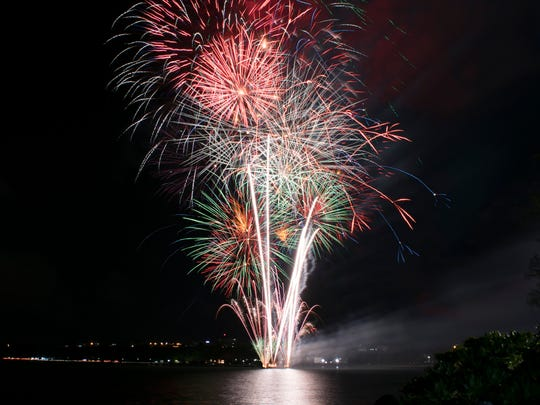 Fierce Louie Catoc shares these photos of the fireworks display at the opening ceremonies for the 2016 Festival of Pacific Arts that took place at Paseo de Susana in Hagåtña May 22.