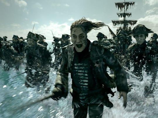Capt. Salazar (Javier Bardem) pursues Jack Sparrow