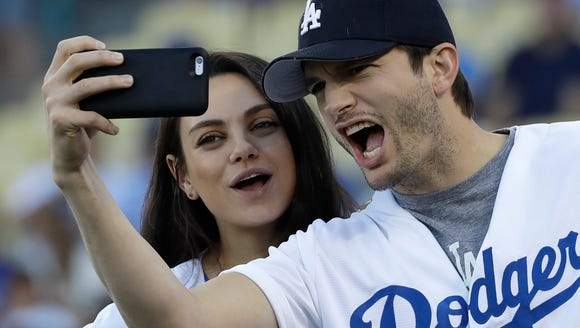 Ashton Kutcher and Mila Kunis.