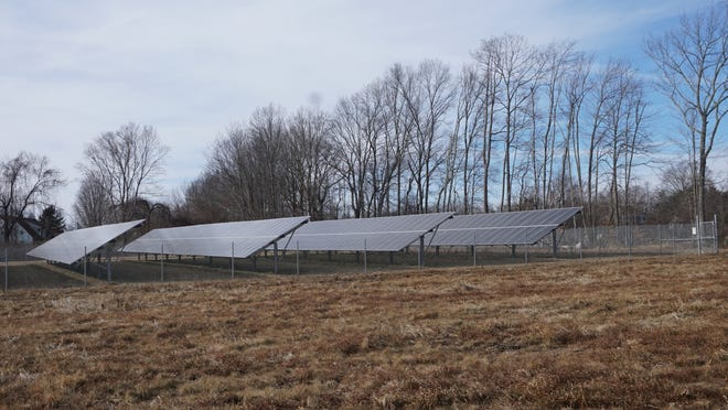 A solar farm off Seven Mile Road in Cranston.