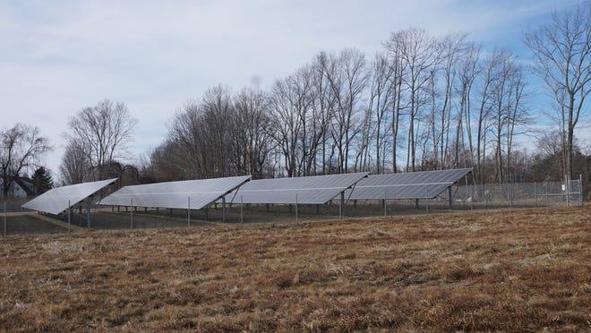A solar farm off Seven Mile Road in Cranston.