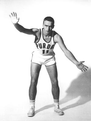 Jerry Lawlis, shown during his playing days at Purdue, held the Indianapolis single-game scoring record -- for two weeks.