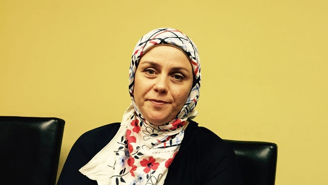 Rasha Basha, of Syrian American Rescue Network, which helps resettle refugees