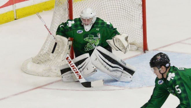Shreveport's Johnny Roberts is one half of a special tandem in net for the Mudbugs.