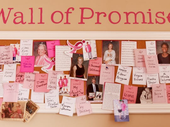 The Wall of Promise at the Northwest Louisiana Susan